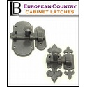 LB Brass - European Country Cabinet Latch's
